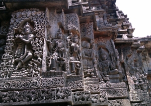 Fine carving on the walls of temples